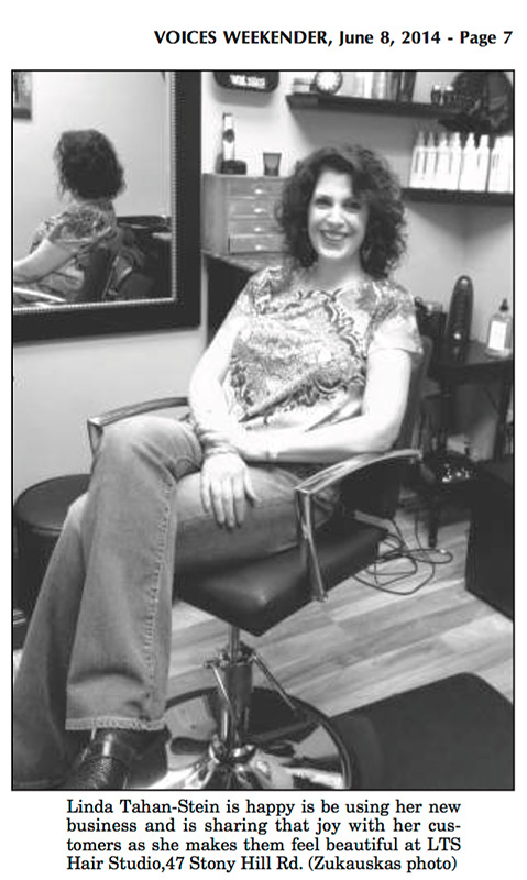 Voices Weekender article: Linda Tahan-Stein opens LTS Hair Studio, Bethel, CT